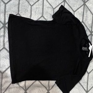 Cropped low turtle neck t shirt